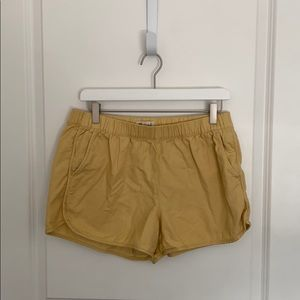 Madewell Yellow Cotton Shorts - Sz Medium